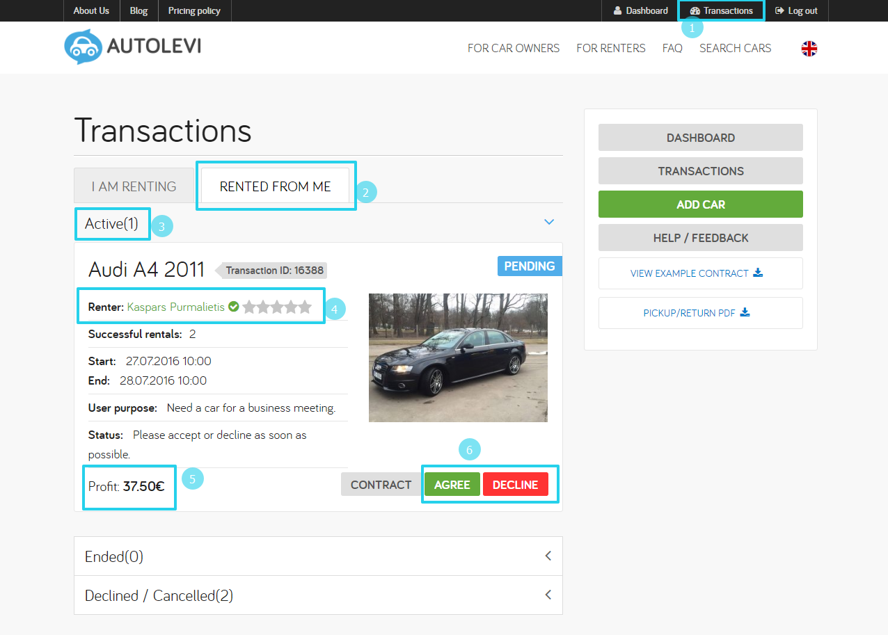 How works Autolevi peer-to-peer car rental Find out how to rent your car