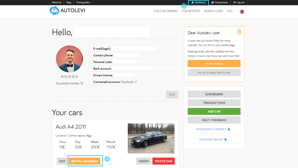 Choose how long rentals you want to receive-Autolevi-peer-to-peer-car-rental